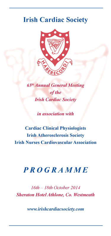 Irish Cardiac Society Annual Scientific Meeting and AGM 2014