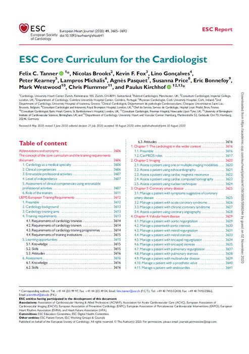 ESC Curriculum